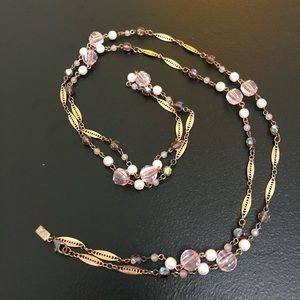 1928 Vintage Inspired Lilac Necklace